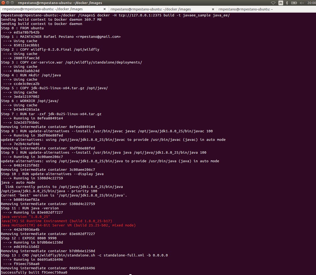 A Simple Java EE Docker Example